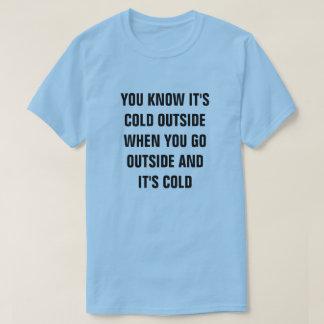 Camiseta VOCÊ SABE que é PARTE EXTERNA FRIA QUANDO VOCÊ VAI