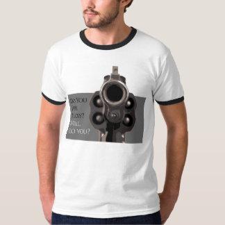 Camiseta Você sente a arma especial T do revólver da