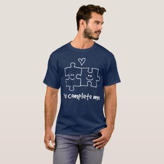 Camiseta Você termina-me gráfico flirty bonito