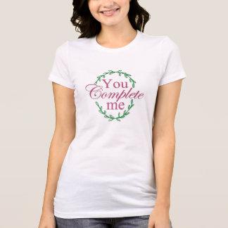 Camiseta Você termina-me t-shirt do dia dos namorados da