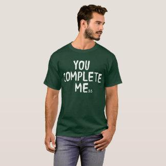 Camiseta Você termina o humor flirty engraçado do me-ss