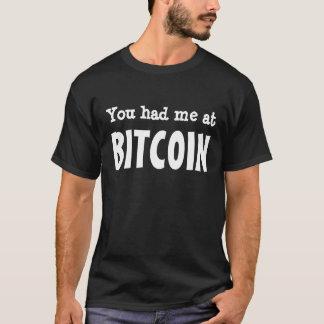 Camiseta Você teve-me em BITCOIN