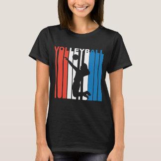 Camiseta Voleibol branco e azul vermelho