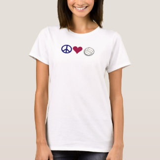Camiseta voleibol do amor da paz