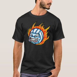 Camiseta voleibol flamejante