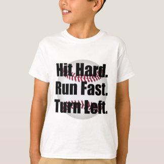Camiseta Volta rápida funcionada duro da batida deixada
