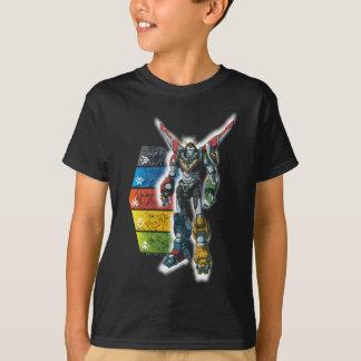 Camiseta Voltron   Voltron e pilotos gráficos