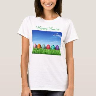 Camiseta Voluntário brilhante da caça do ovo do coelho de