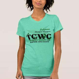 Camiseta Voluntário do logotipo de TCWC - especialista