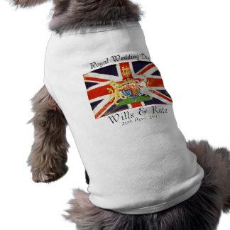 Camiseta Vontades e t-shirt real do cão do casamento de Kat