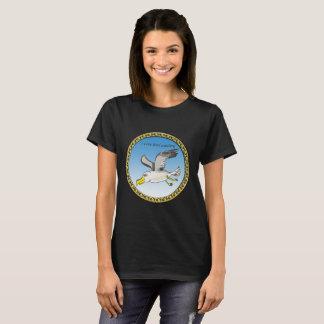 Camiseta Vôo da gaivota dos desenhos animados aéreo com um