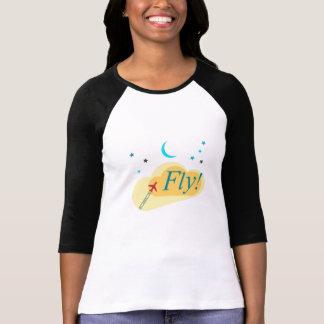 Camiseta Vôo da mosca às estrelas. Sonho de férias do vôo
