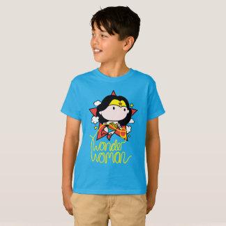 Camiseta Vôo da mulher maravilha de Chibi com laço