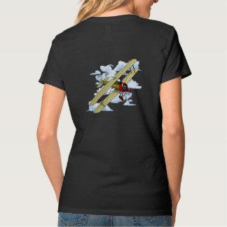 Camiseta Vôo do biplano do vintage