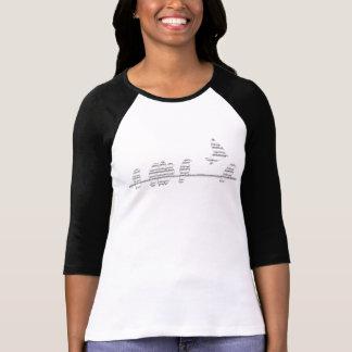 Camiseta Voo dos pássaros da música das mulheres