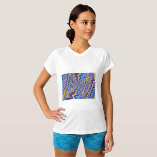 Camiseta vortex no t-shirt Dobro-Seco do V-Pescoço do