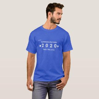 Camiseta Vote para alguém/qualquer um 2020 - Melania livre