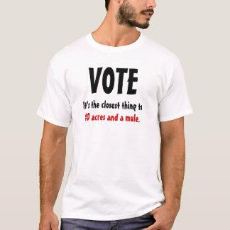 Camiseta Voto: Afro-americano
