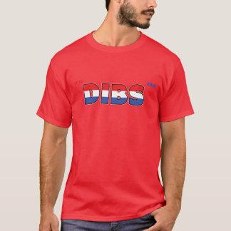 Camiseta Voto Dibs 2010 eleições branco e azul vermelhos