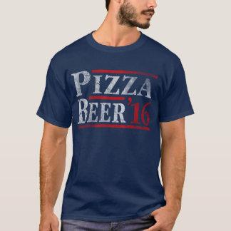 Camiseta Voto para a eleição 2016 da pizza e da cerveja
