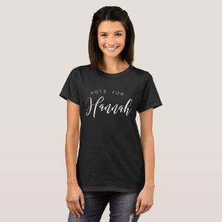 Camiseta Voto para: Hannah