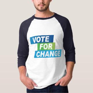 Camiseta Voto para o t-shirt da mudança