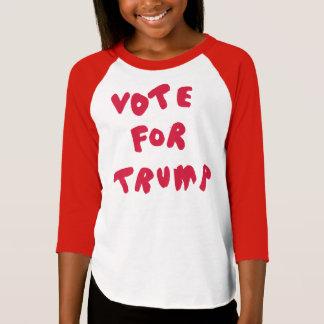 Camiseta VOTO PARA o TRUNFO - T americano do Raglan do
