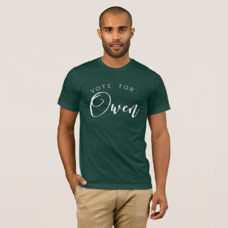 Camiseta Voto para: Owen