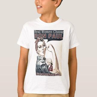 Camiseta Voto Ron Paul das mulheres reais