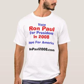 Camiseta Voto, Ron Paul, para o presidente, em 2008,