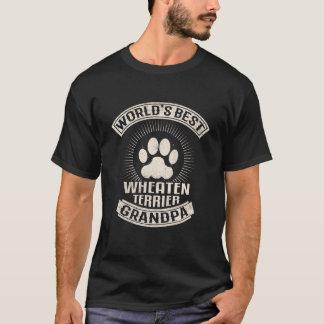 Camiseta Vovô Wheaten de Terrier do mundo o melhor