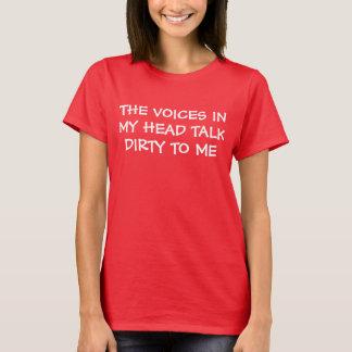 Camiseta Vozes em minha conversa principal suja