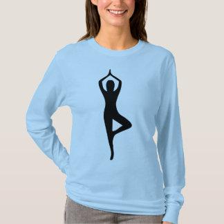 Camiseta Vrkshasana ou t-shirt do costume da pose da árvore