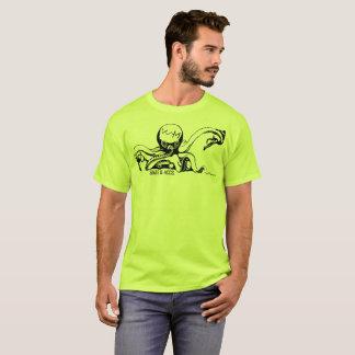Camiseta W.M. Skate & acesso. T-shirt - edição do polvo