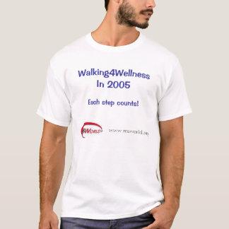 Camiseta Walking4Wellness em 2005