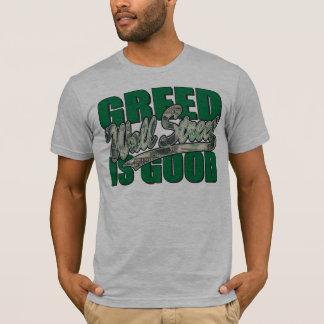 Camiseta Wall Street/avidez é bom