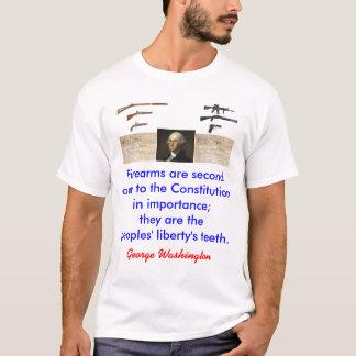 Camiseta Washington em armas de fogo - com constituição,