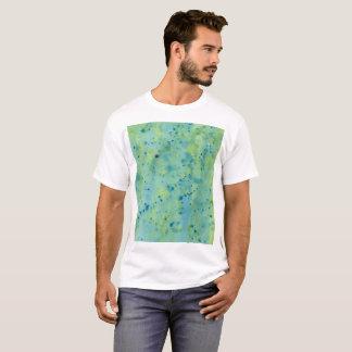 Camiseta Watercolour azul & verde Splat