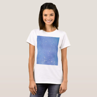 Camiseta Watercolour de mármore azul Splat