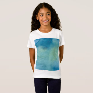 Camiseta Watercolour de mármore azul & verde