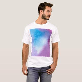 Camiseta Watercolour de mármore cor-de-rosa e azul