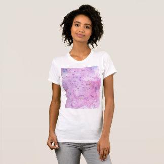 Camiseta Watercolour de mármore cor-de-rosa Splat