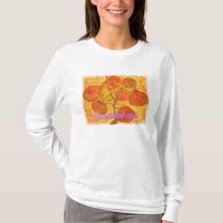 Camiseta watercolour do conjunto do tomate (rocha dos