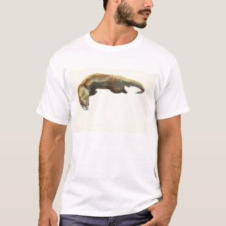 Camiseta Watercolour do ouro no papel