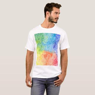 Camiseta Watercolour do Squiggle do arco-íris