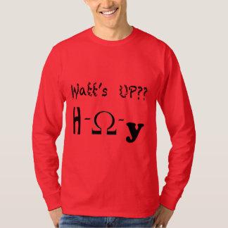 Camiseta Watt acima do t-shirt longo da luva