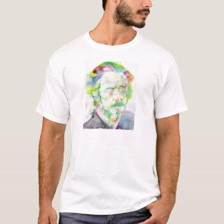 Camiseta watts de alan - retrato da aguarela