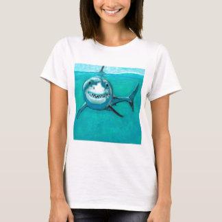 """Camiseta """"Wayne"""" o grande tubarão branco"""