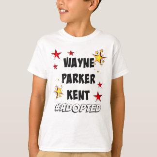 Camiseta Wayne, Parker, Kent #Adopted a adopção dos