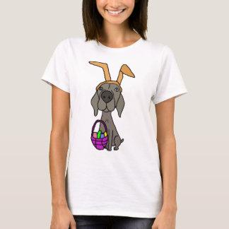 Camiseta Weimaraner engraçado bonito com orelhas do coelho